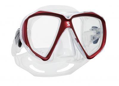 Scubapro Spectra Maske Rot - Transparent