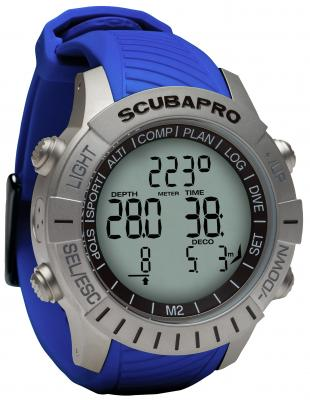 Scubapro Mantis 2 Blau / Mit LED Sender & Brustgurt