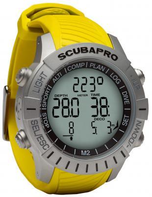 Scubapro Mantis 2 Gelb / Mit LED Sender & Brustgurt