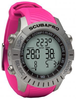 Scubapro Mantis 2 Pink / Mit LED Sender & Brustgurt