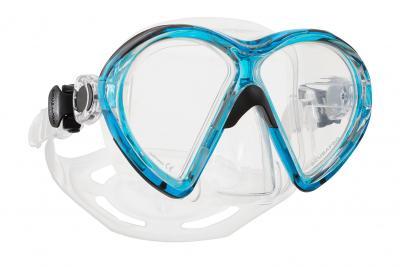 Scubapro VIBE2 Maske Aquamarinblau - Transparent