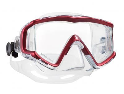 Scubapro CRYSTAL VU Rot - Transparent